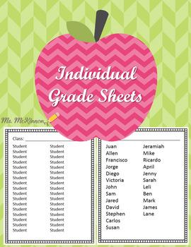 Individual Grade Sheets
