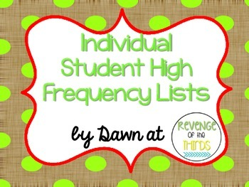 Individual High Frequency Lists