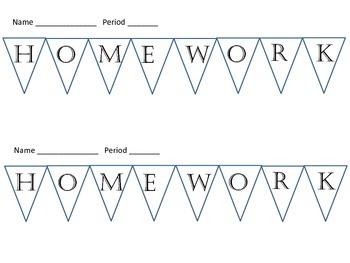 Individual Homework Banner