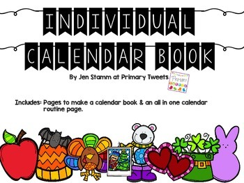 Individual Interactive Calendar Book