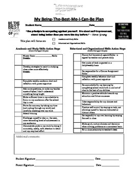 Individual Learning/Behavior Plan for Students