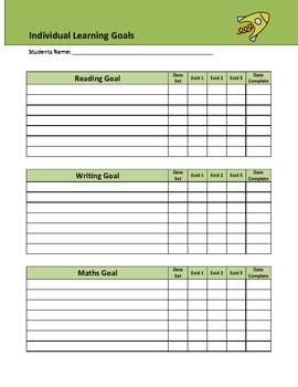 Individual Learning Goals Record Sheet