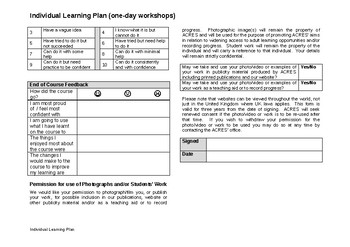 Individual Learning Plan One day Workshoop Spanish