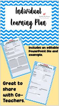 Individual Learning Plans -Editable