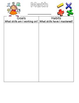Individual Math Goal template