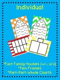Individual Math Mats: Part-Part-Whole, Fact Families, Ten Frames