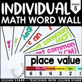 Individual Math Word Wall 5th Grade | Student Math Word Wall Ring