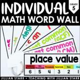 Individual Math Word Wall 5th Grade | Student Math Word Wall Ring