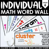 Individual Math Word Wall 6th Grade | Student Math Word Wall Ring