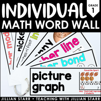 Individual Math Word Wall 1st Grade | Student Word Wall Ring