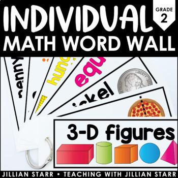 Individual Math Word Wall- Grade 2