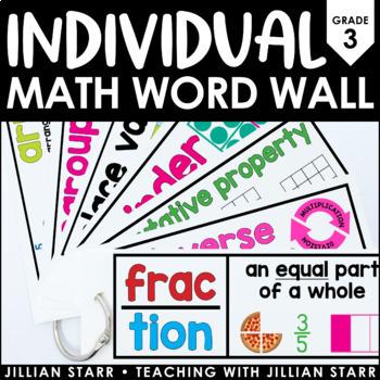 Individual Math Word Wall 3rd Grade   Student Word Wall Ring