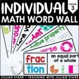 Individual Math Word Wall 3rd Grade | Student Word Wall Ring