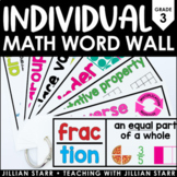 Individual Math Word Wall- Grade 3
