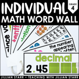 Individual Math Word Wall 4th Grade | Student Word Wall Ring