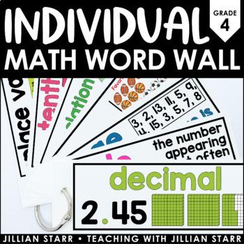 Individual Math Word Wall- Grade 4