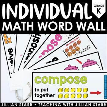 Individual Math Word Wall Kindergarten