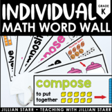 Individual Math Word Wall Kindergarten