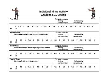 Individual Mime Activity
