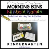 Individual Mini Morning Bins • Morning Tubs/Centers • Name