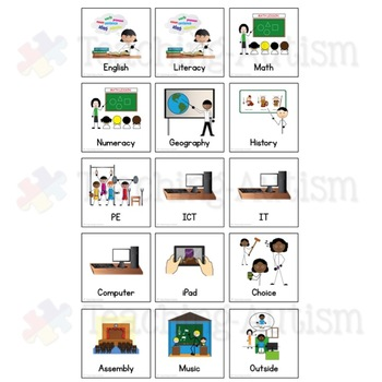 Individual Mini Visual Schedule for Special Education and Autism Classrooms