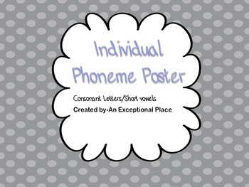 Individual Phoneme Card