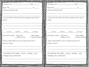 Individual Reading Conference Form (for teacher)