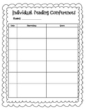 Individual Reading Conference Forms