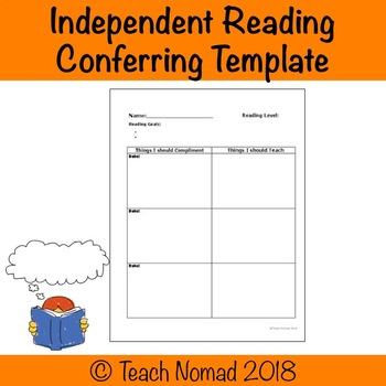 Individual Reading Conference Notes Template