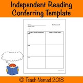 Individual Reading Conferring Notes Template