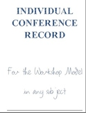 Individual Reading Conference Record