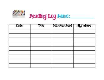 Individual Reading Log