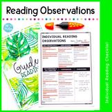 Individual Reading Observation Checklist