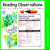 Individual Reading Observation Checklist