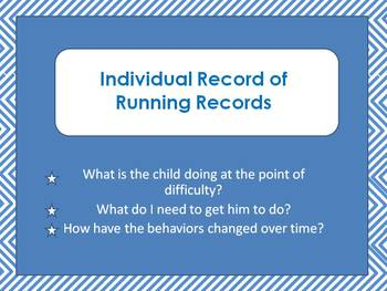 Individual Record for Running Records