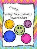 Individual Reward Chart: Smiley Faces