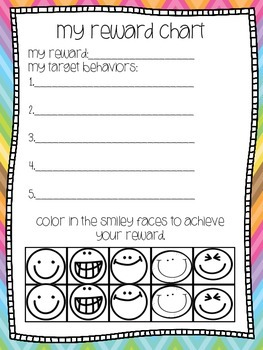 Individual Reward Chart: Smiley Faces
