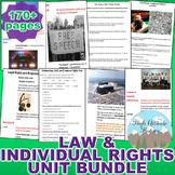 Criminal Law, Civil Law, and Individual Rights Unit Bundle