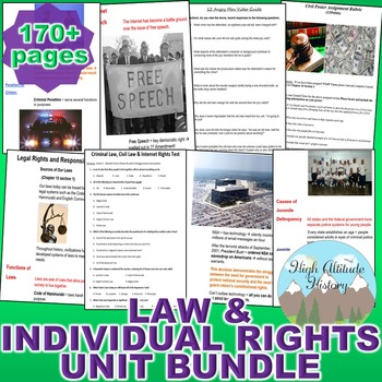 Criminal Law, Civil Law and Individual Rights (Government)