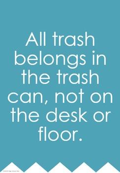 Individual Rules Poster Trash