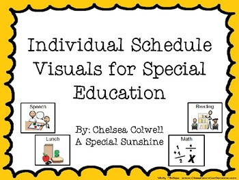 Individual Schedule Visiuals for Autism or Special Education
