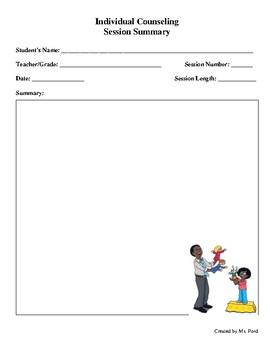 Individual Session Summary Sheet