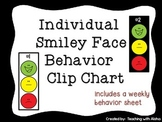 Individual Smiley Face Behavior Clip Chart with Editable Weekly Behavior Chart