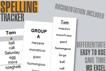 Individual Spelling Assessment Tool and Tracker