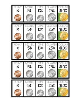 Student Coin Bank: Money Organizer Labels