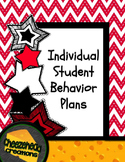 Individual Student Behavior Plans - Editable Files!