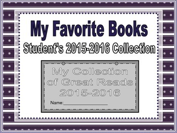 Individual Student Book: Great Reads of 2015-2016