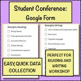 Individual Student Conferencing Record Keeping Google Form (Language Arts)