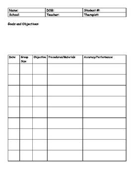 Individual Student Data Sheet