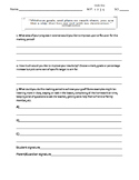 Individual Student Goal Setting Worksheet
